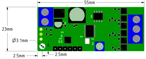 ZDBL15UART BLDC Motor Controller Compact Footprint