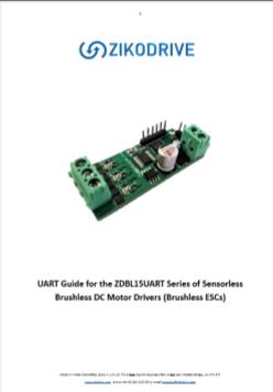 ZDBL15UART - 15A Sensorless Brushless (BLDC) UART Motor Controller