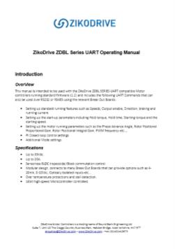 ZD10UART manuale utente Stepper Motor controller Scarica