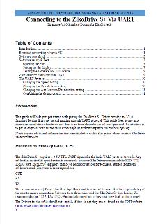 ZDSPUART-2A controllore motore stepper UART manuale