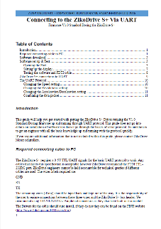 ZDSPUART-2A Stepper Motor Controller UART Manual