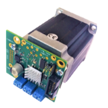 Stepper motors with integrated controllers