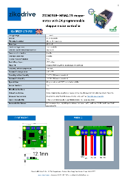 Motor de pasos Zikodrive ZD10N2318 NEMA 23 con controlador ZD10 integrado