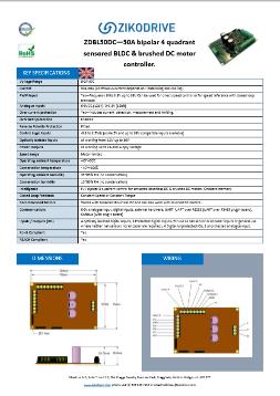 Zikodrive ZDBL50DC - 50A 4 Quadrant Brushless Motor Controller