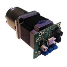 Geared stepper motors with integrated controllers