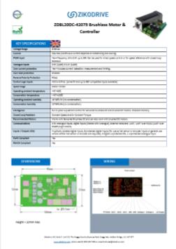ZDBL20DC-M-57330 Brushless DC (BLDC) Motor and Controller