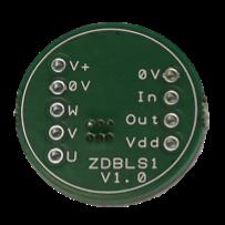 ZDBLS1 – 0.8A 4-14VDC Sensorless Sinusoidal Brushless DC (BLDC) Motor Controller